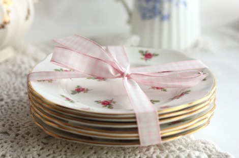 duchess vintage china side plates
