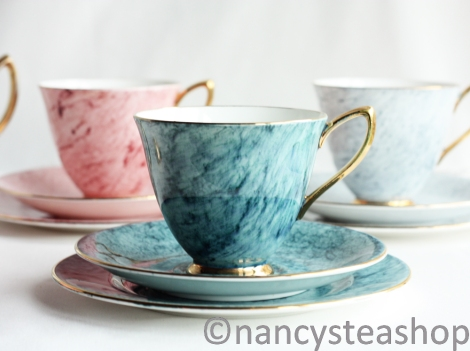 Royal Albert Gossamer blue tea cup saucer and plate from Nancy's Tea Shop