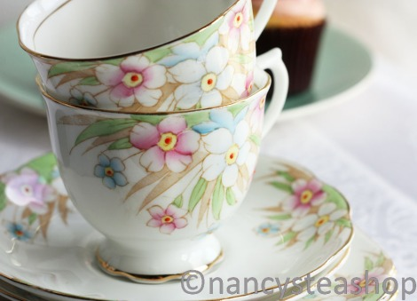 Royal Albert 1930s tea cup saucer and plate from Nancy's Tea Shop