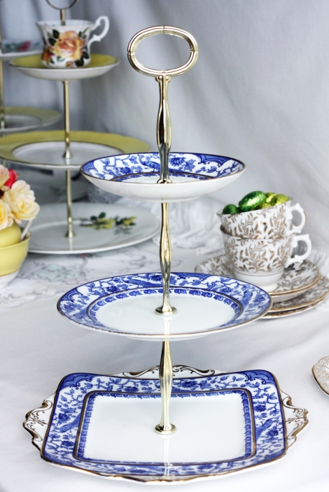 A photo of Cake stand from nancysteashop on Etsy made using vintage Paragon china