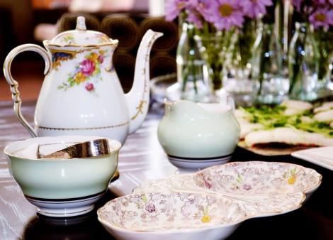 A photo of Colclough ballet mint green sugar bowl and creamer