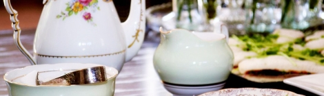 A photo of Colclough ballet mint green sugar bowl and creamer