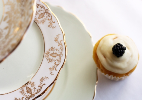 A photograph of Mint green cake stand from Nancy's Tea Shop made with vintage English china