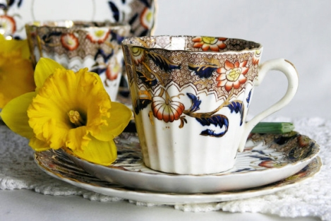 A photo of a vintage Welsh china tea set