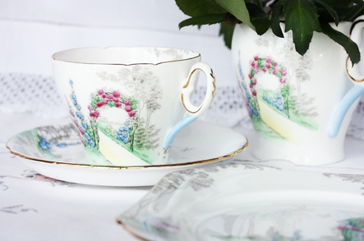 A picture of vintage English Shelley china
