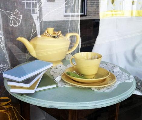 Vintage English china lemon tea set