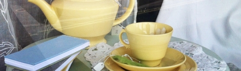 Vintage English china lemon tea set