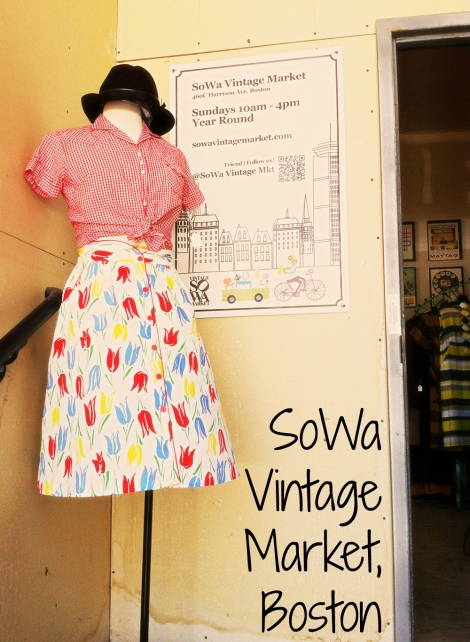 A photo of the entrance to SoWa Vintage Market in Boston