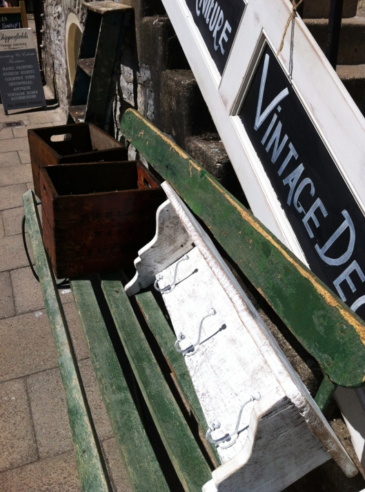 Vintage bench and bits and pieces