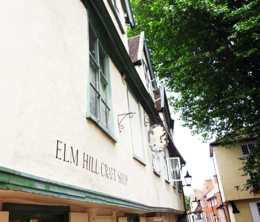 A photo of Elm hill in Norwich