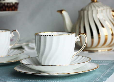 A photo of a Gladstone china Grecian tea set