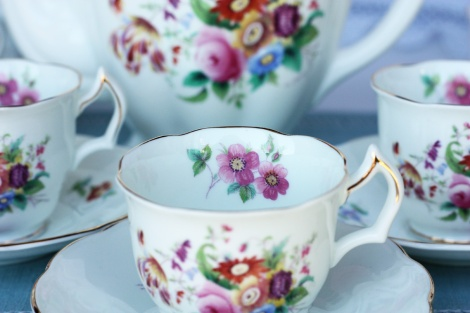 A picture of a Vintage Coalport china coffee set