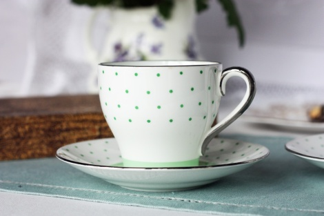 A picture of a vintage Bell china coffee cup
