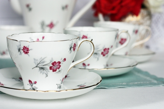 A picture of a Vintage Shelley china coffee set