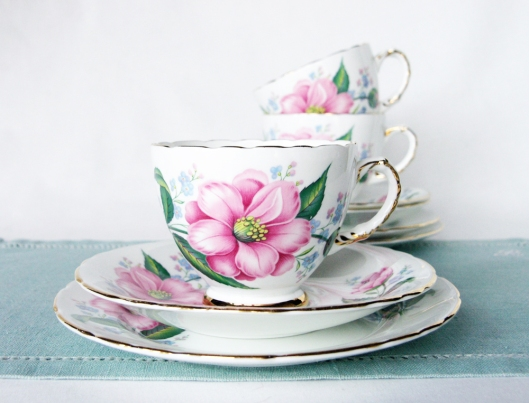 A picture of Delphine vintage English bone china tea set