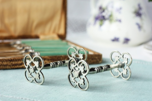 A picture of Vintage silver-plated knife rests
