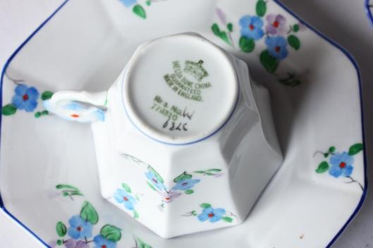 A picture of a Melba vintage china tea set