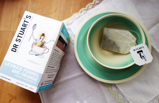 A photo of Dr Stuart's tea with tea cup