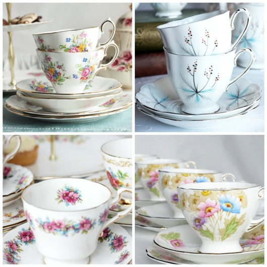 Royal Standard vintage china tea cups