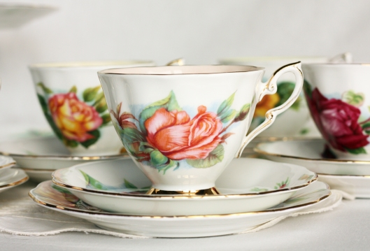 A picture of a vintage Royal Standard Harry Wheatcroft tea set