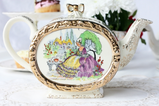 A picture of a Sadler vintage English china teapot