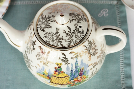 A picture of a Royal Harvey china vintage teapot