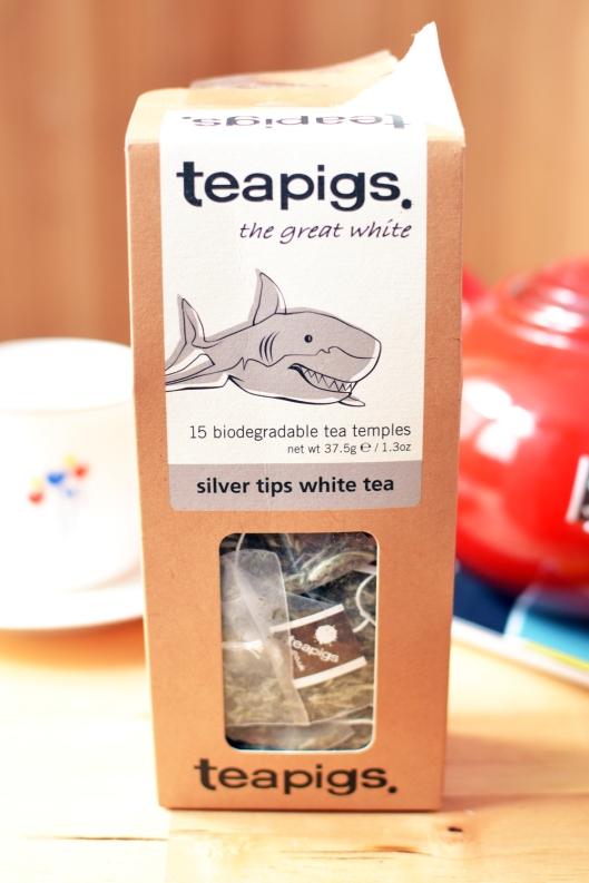 A photo of a Teapigs silver tips white tea box