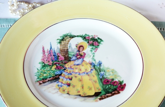 A picture of a vintage English china plate