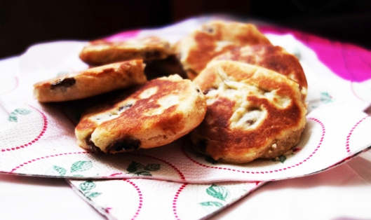 A photo of homemade Welsh cakes