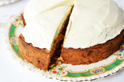 A picture of a Homemade Easter carrot cake