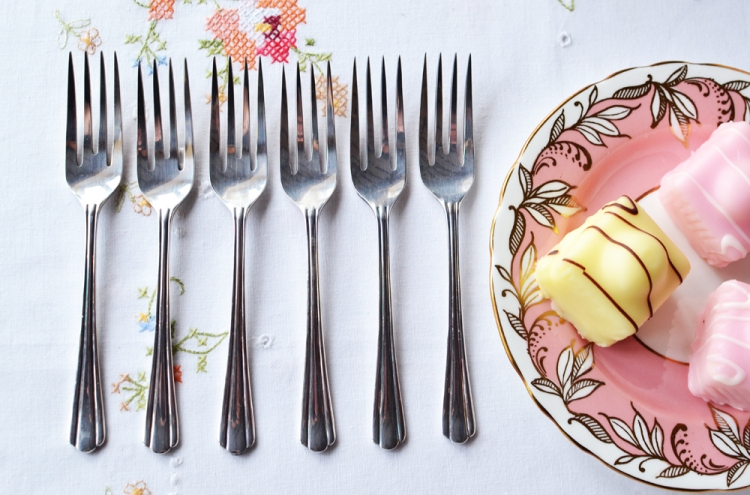 A picture of Vintage silver plated cake forks