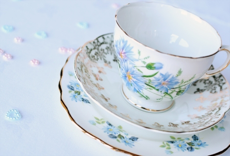 Cornflower mism vintage tea set