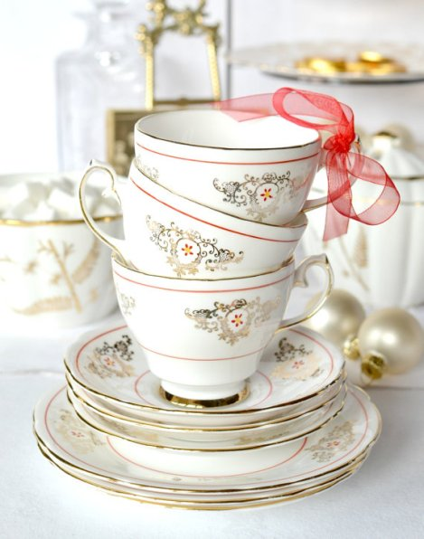 Gladstone vintage china tea cups